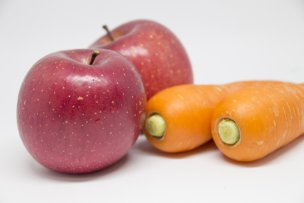 ニンジンとリンゴ