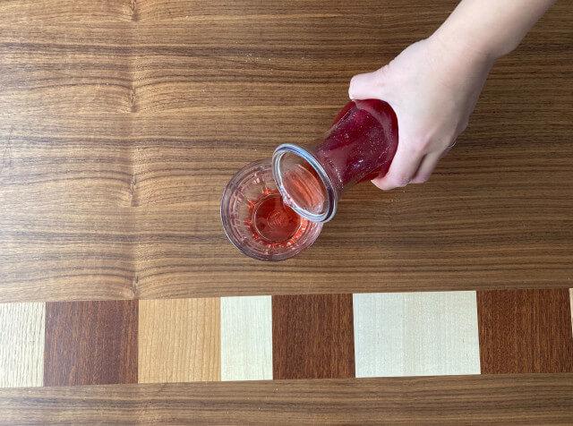 苺シロップの飲み方