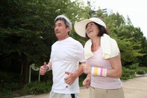 ジョギング老夫婦