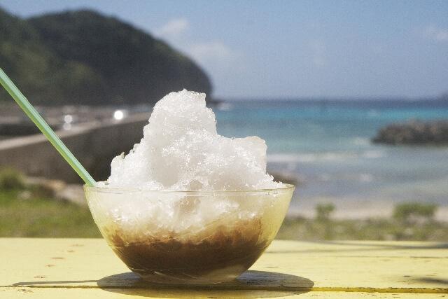 カキ氷の酵素がけ