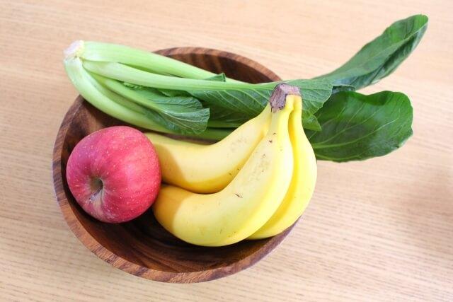 小松菜バナナりんご